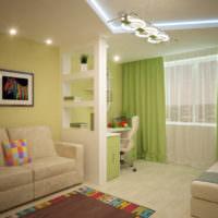Зеленый цвет в интерьере кухни гостиной