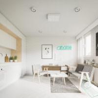 Белый цвет в дизайне интерьера современной кухни