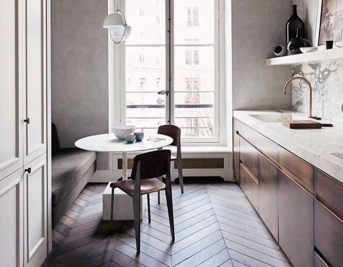 Интерьер современной кухни в стиле модерн