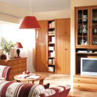 Коричневая мебель в интерьере городской квартиры