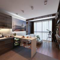 Дизайн комнаты в однушке многоквартирного дома
