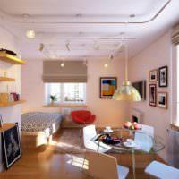 Софиты на подвесах для освещения жилой комнаты