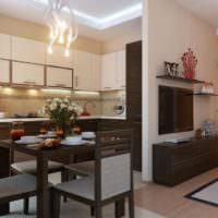 Оригинальные светильники в интерьере кухни-гостиной