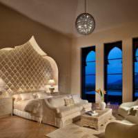 Освещение в спальне марокканского стиля