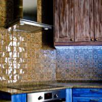 Кухонный фартук в марокканском стиле