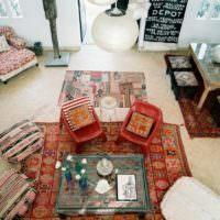 Оформление пола гостиной в марокканском стиле
