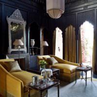 Темная спальня в восточном стиле