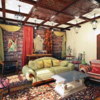Смешение лофта с марокканским стилем