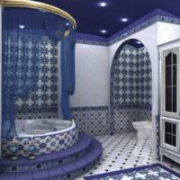 Ванная частного дома в марокканском стиле
