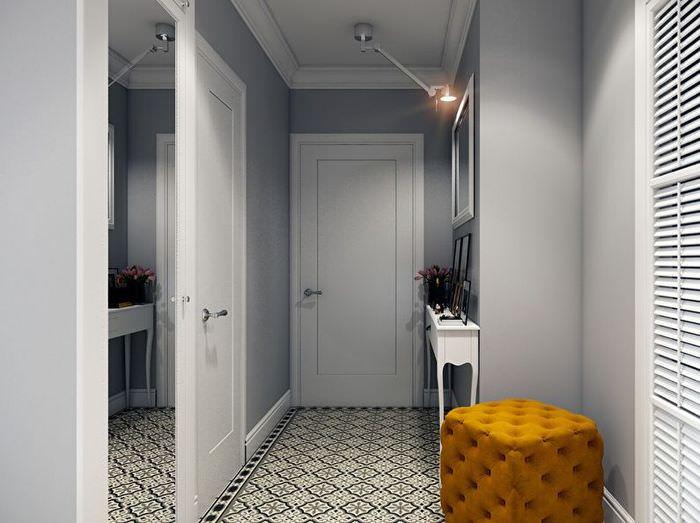 Интерьер прихожей 4 квадратных метра в стиле минимализма