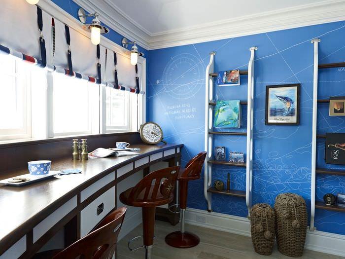 Оформление комнаты в морском стиле своими руками
