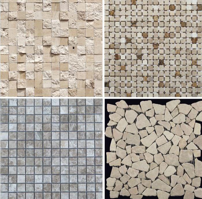 Разновидности каменной мозаики для отделки стен и полов