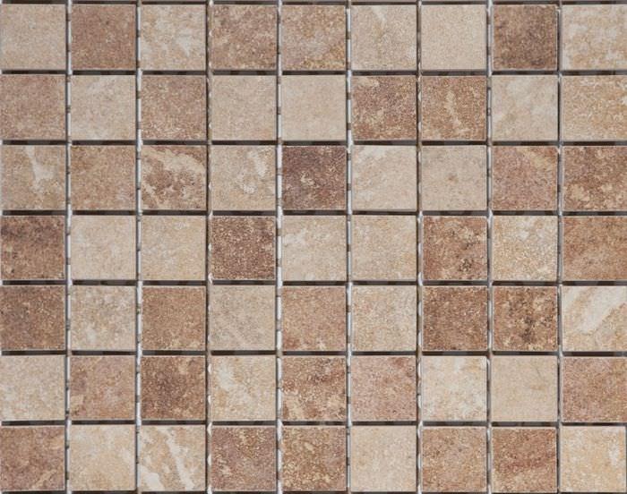 Мелкая мозаика из керамогранита для отделки ванной
