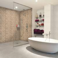 Мозаика в зонировании ванной комнаты