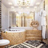 Дизайн ванной в коричневых тонах