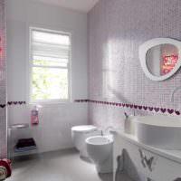 Оформление ванной в светлых тонах