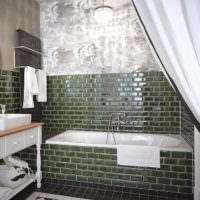 Мозаика в интерьере ванной загородного дома