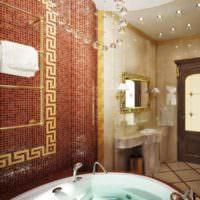 Зонирование ванной комнаты с помощью мозаики