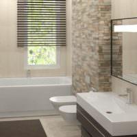 Каменная мозаика в дизайне ванной