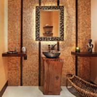 Интерьер ванной комнаты в античном стиле