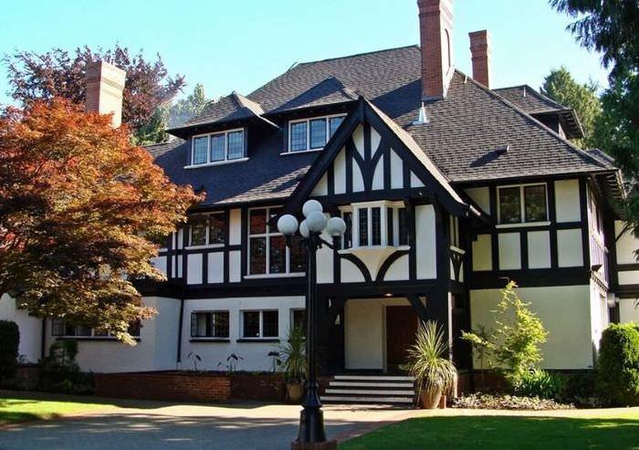 Фасад немецкого дома в стиле фахверк