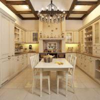 Кухонный гарнитур в строгом стиле