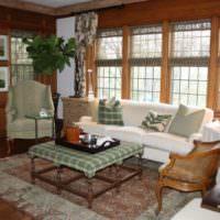 Уютная гостиная в сельском доме