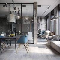 Современная гостиная в серых оттенках