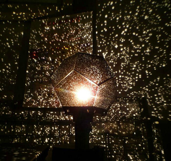 Имитация звездного неба в комнате с помощью ночного светильника