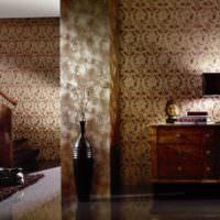 Темный интерьер комнаты в восточном стиле
