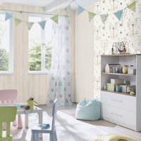 Интерьер детской комнаты в светлых оттенках