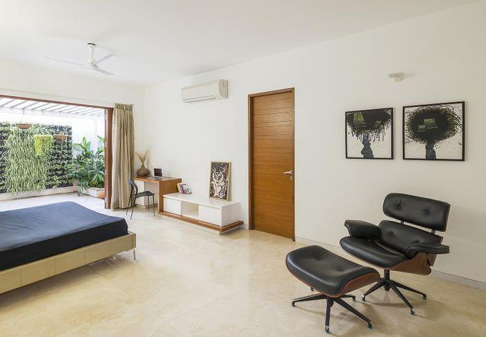 Отделка пола в спальне минималистического стиля