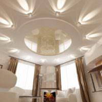 Оригинальная подсветка натяжного потолка