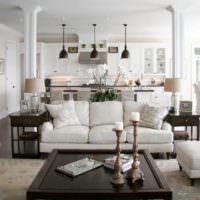 Колонны в гостиной классического стиля