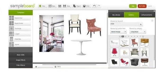 Программа Sample Board для создания коллажей интерьера своей квартиры
