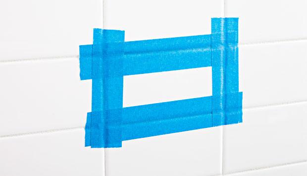 Использование изоленты при сверлении керамической плитки