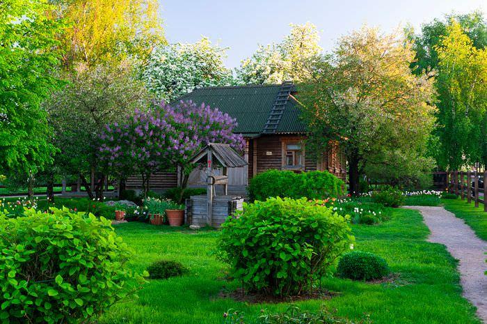Сад в стиле старой русской усадьбы