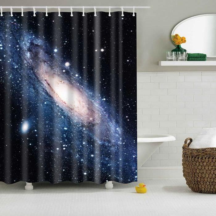 Интерьер ванной комнаты в космическом стиле