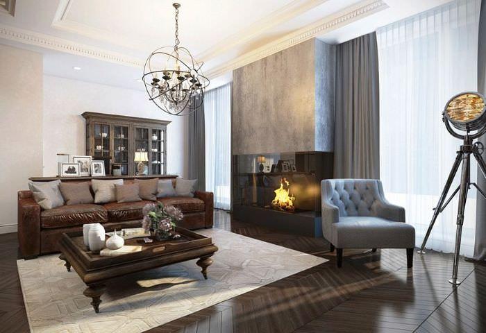 Уникальный дизайн современной гостиной в пастельных тонах