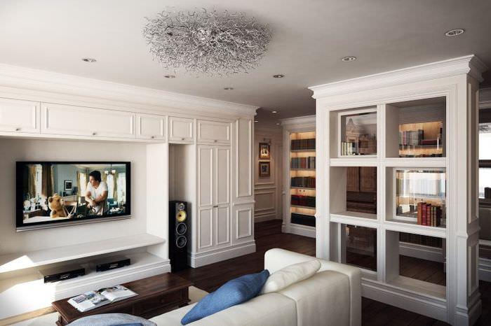 Интерьер классической гостиной в современном исполнении