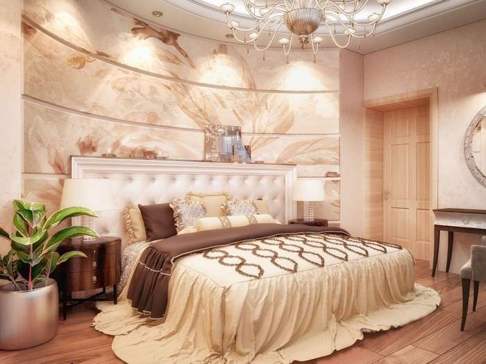 Интерьер классической спальни в светлых тонах