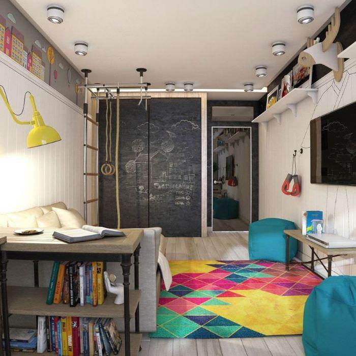 Грифельная доска в дизайне комнаты для подростка