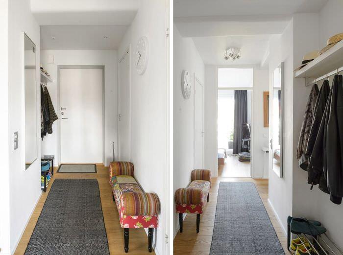 Дизайн узкой прихожей ограниченной площади
