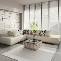 Дизайн гостиной в белых тонах