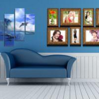 Декорирование гостиной различными элементами