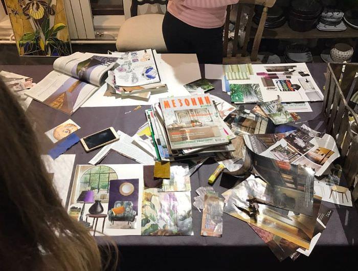 Вырезки из журналов для создания интерьерного коллажа своими руками