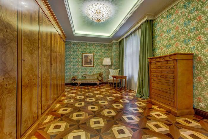 Коричневый цвет в дизайне классической гостиной