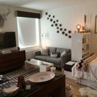 Зонирование совмещенной спальни-гостиной