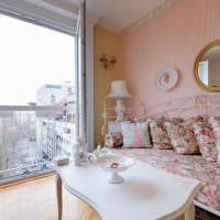 Панорамные окна в гостиной классического стиля
