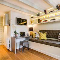 Дизайн зоны отдыха в кухне-гостиной